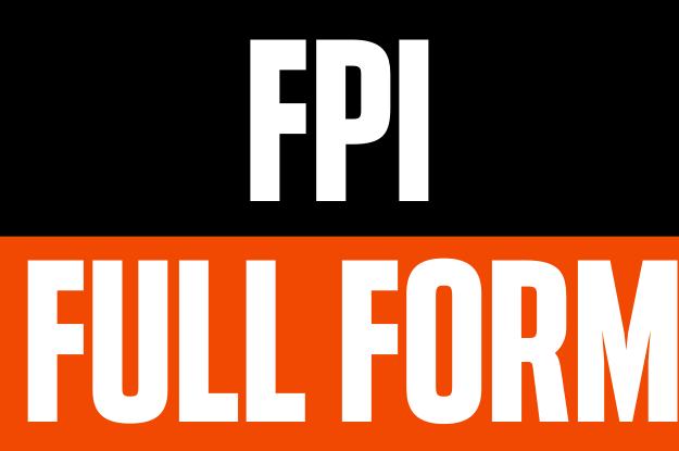 FPI Full Form